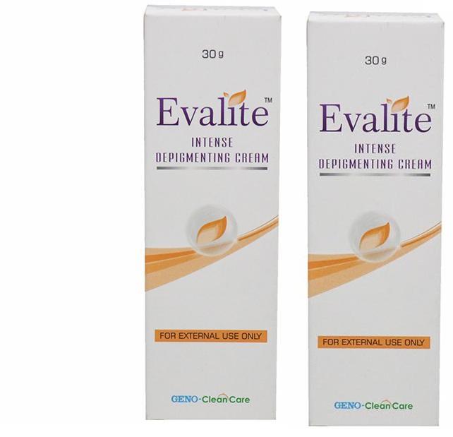 Evalite Intense Depigmenting Cream 30G  GENO CLEAN CARE Pack Of 2