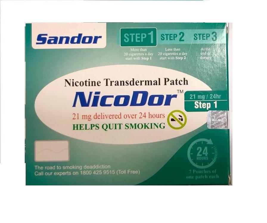 Nicodor Nicotine Transdermal Patch STEP 1