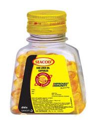 Seacod Cod Liver Oil Capsules 110caps
