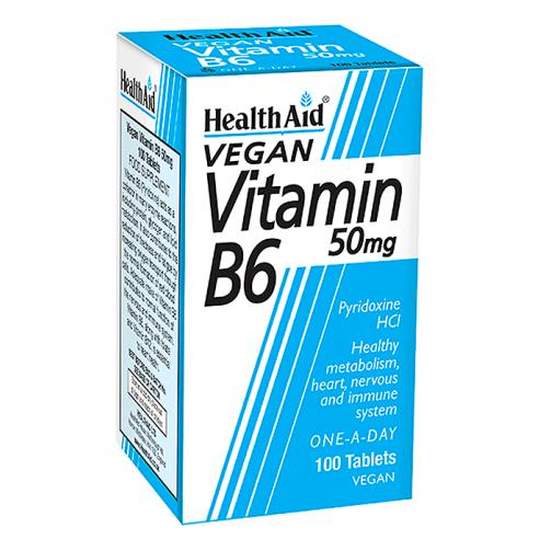 Vitamin B6 50mg  100 tablets