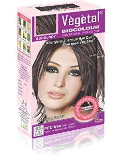 Vegetal Bio Colour  Burgundy 50 gm  pack of 2