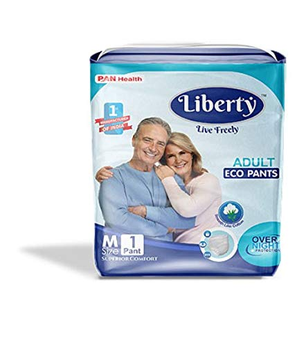 Liberty Over Night Protection Pant Style Adult Diaper Msize Pack of 1
