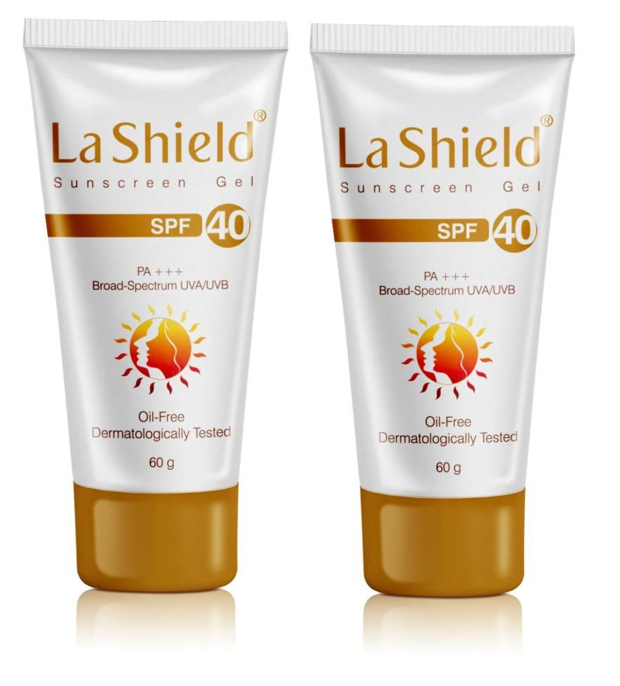 La Shield Sunscreen Gel SPF40 60gm Pack Of 2