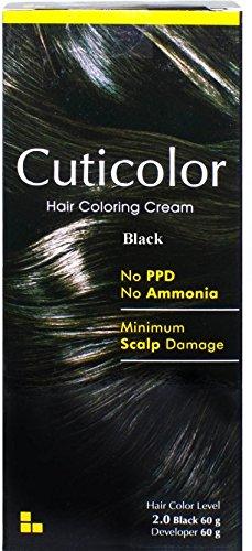 Cuticolor Permanent Hair Color black
