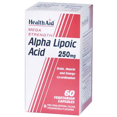 Health Aid Alpha Lipoic Acid 250mg 60Caps