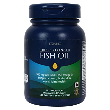 GNC Triple Strength FISH OIL 900 mg and 120 N SOFTGELS