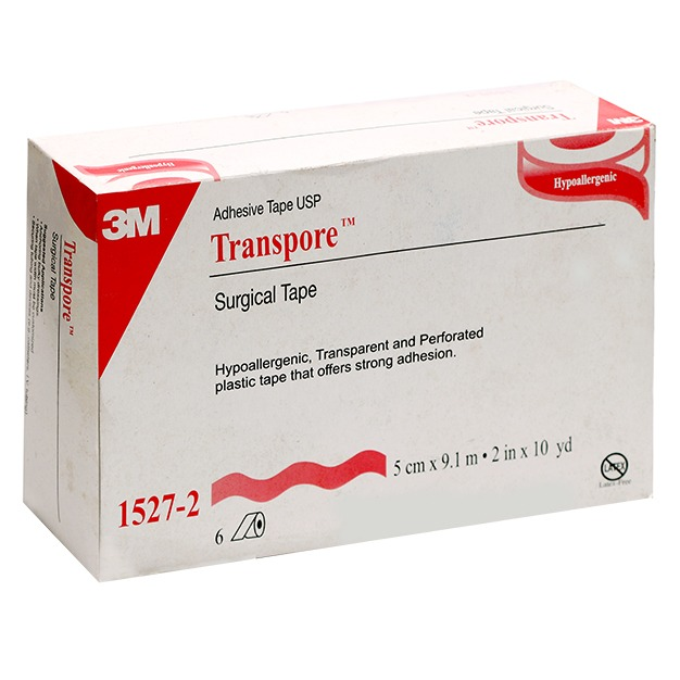 3M Transpore Surgical Tape  5 cm * 9.1m 2 in  10 yd 9.1 m 1 in x 10 yd 1527- 2