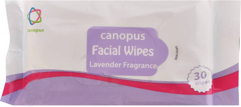 canopus facial wipes lavender fragrance