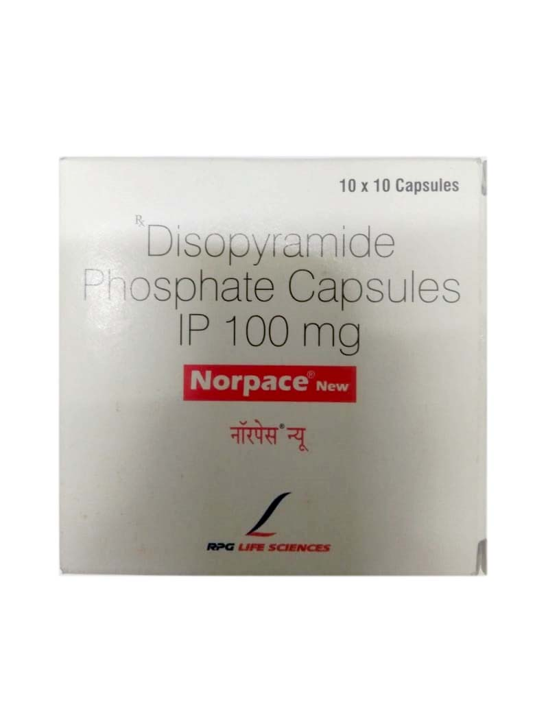 Norpace New 100mg 10x10 Capsules Tablets