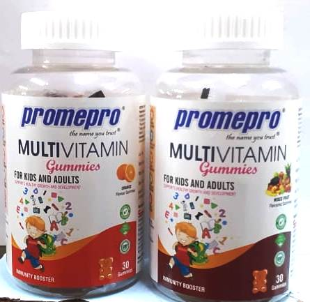 Promepro Multivitamin Gummies Orange And Mixed Fruit Flavour 30Gummies