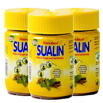 Hamdard Sualin Natural Cough And Cold Remedy Tablets pack of 4