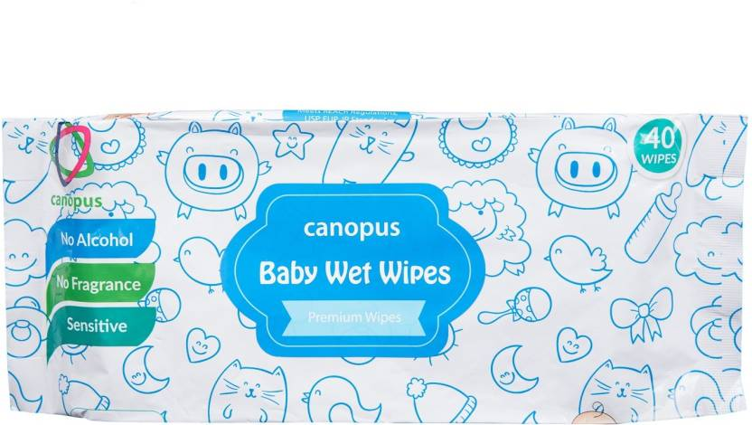 canopus Baby wet wipes premium wipes 20 wipes pack of 2