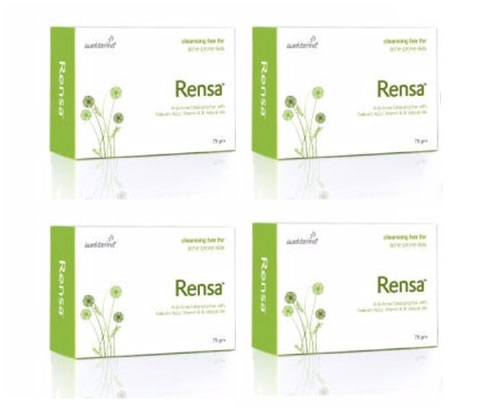 Rensa Cleansing bar for Acne prone skin 75gm pack of 4