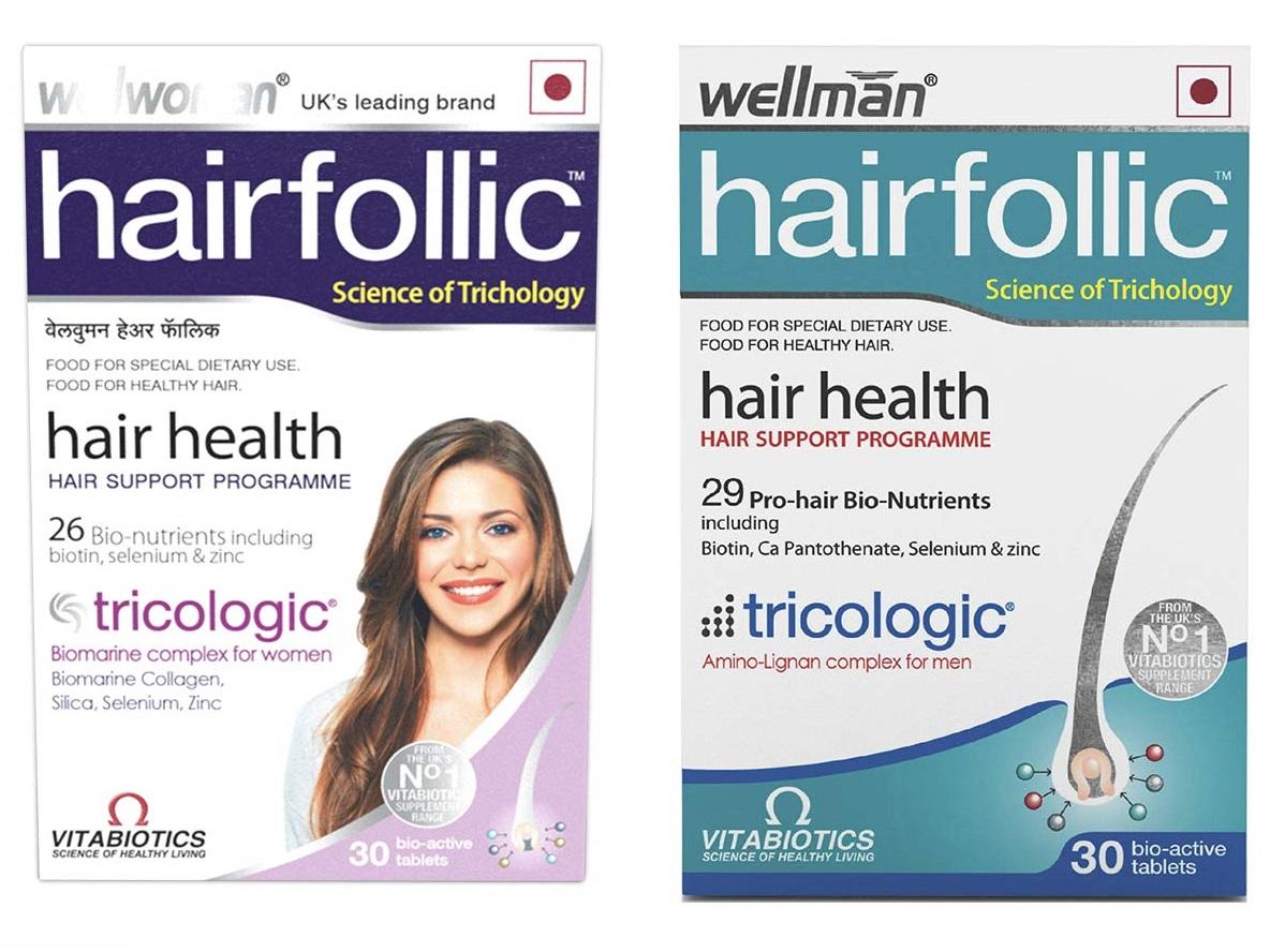 Wellwoman Hairfollic and Wellman Hairfollic 30caps  combo