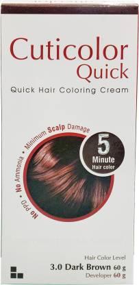 Cuticolor  Quick 3.0 Dark Brown -5 Minute Hair Color (120 g)
