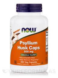 Psyllium Husk 500 mg  200 Capsules