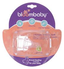 Bloombaby Bottle Nipples LSize Clear 2pcs