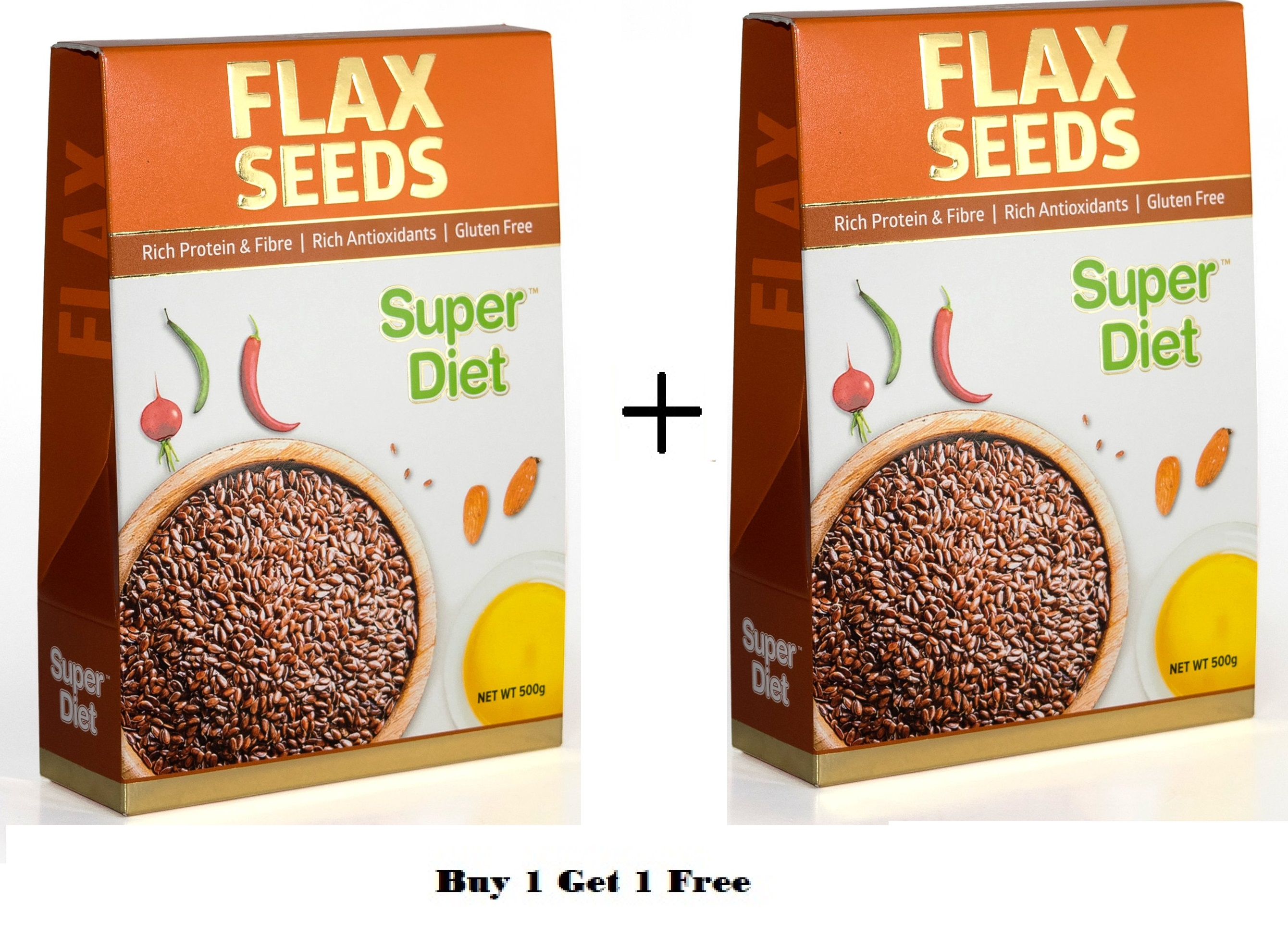 Super Diet Flax Seeds  500GM Buy 1 Get 1 Free