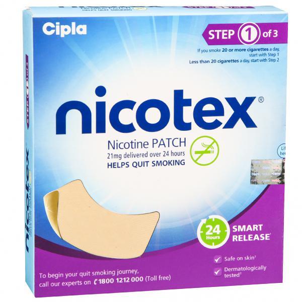 Nicotex Nicotine Patch Step 1
