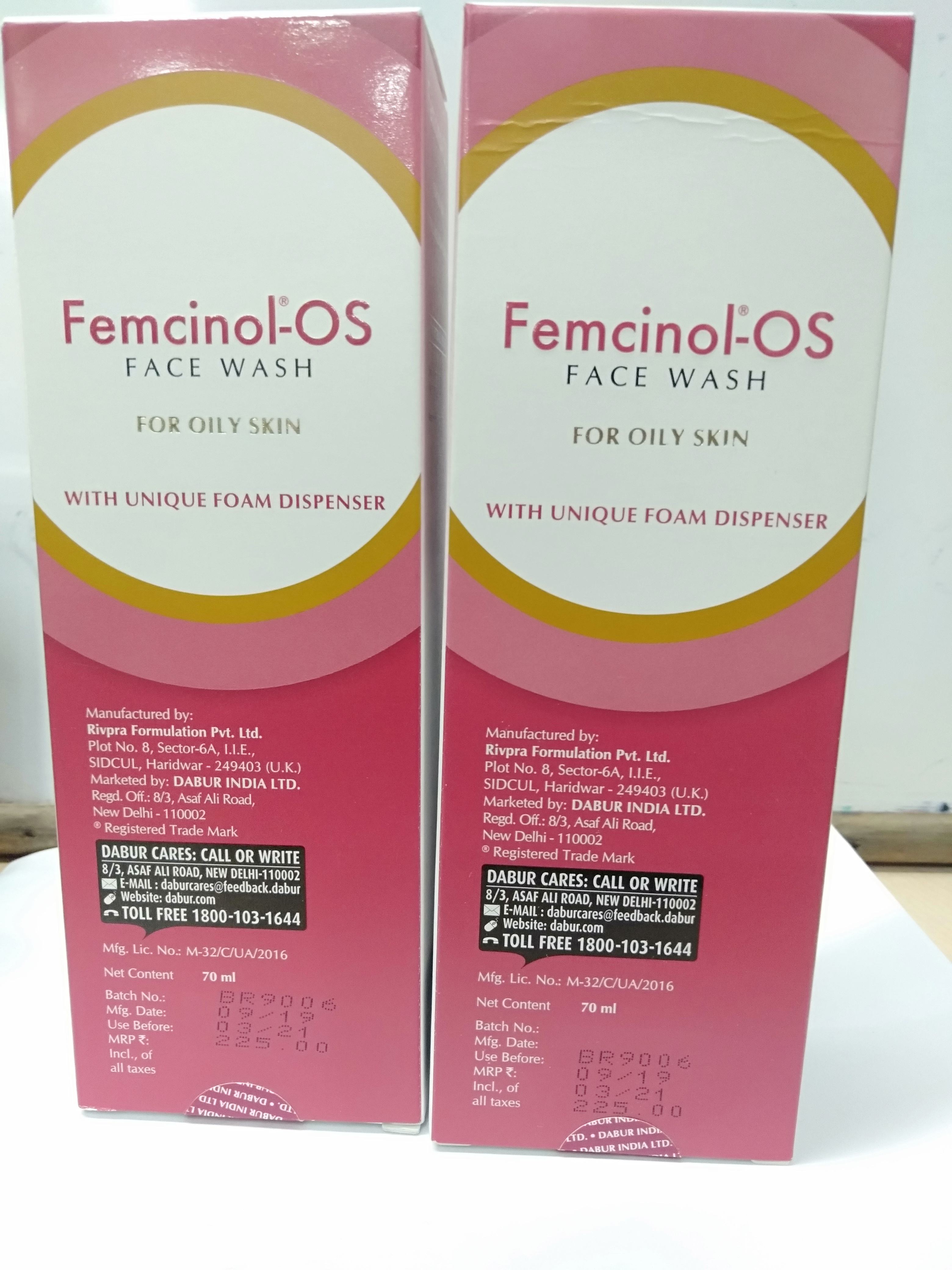 Femcinol Os Face Wash 70 ml pack up 2
