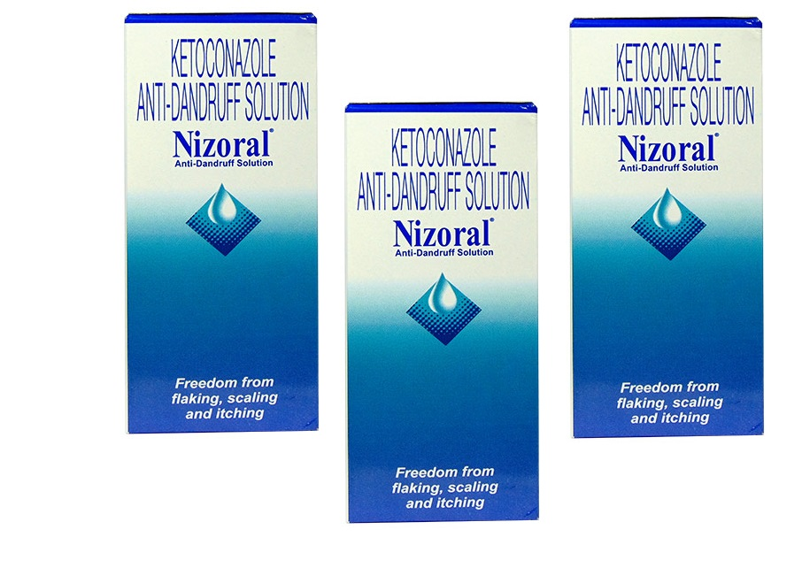 KETOCONAZOLE ANTI DANDRUFF SOLUTION NIZORAL 50ML PACK OF 3