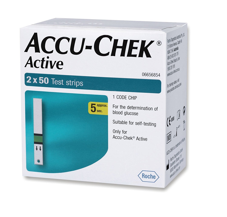 Accu Chek  acytive Test Strips  2x50 Count