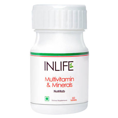 Inlife Multivitamin And Minerals Nurtritab 60 Tablets