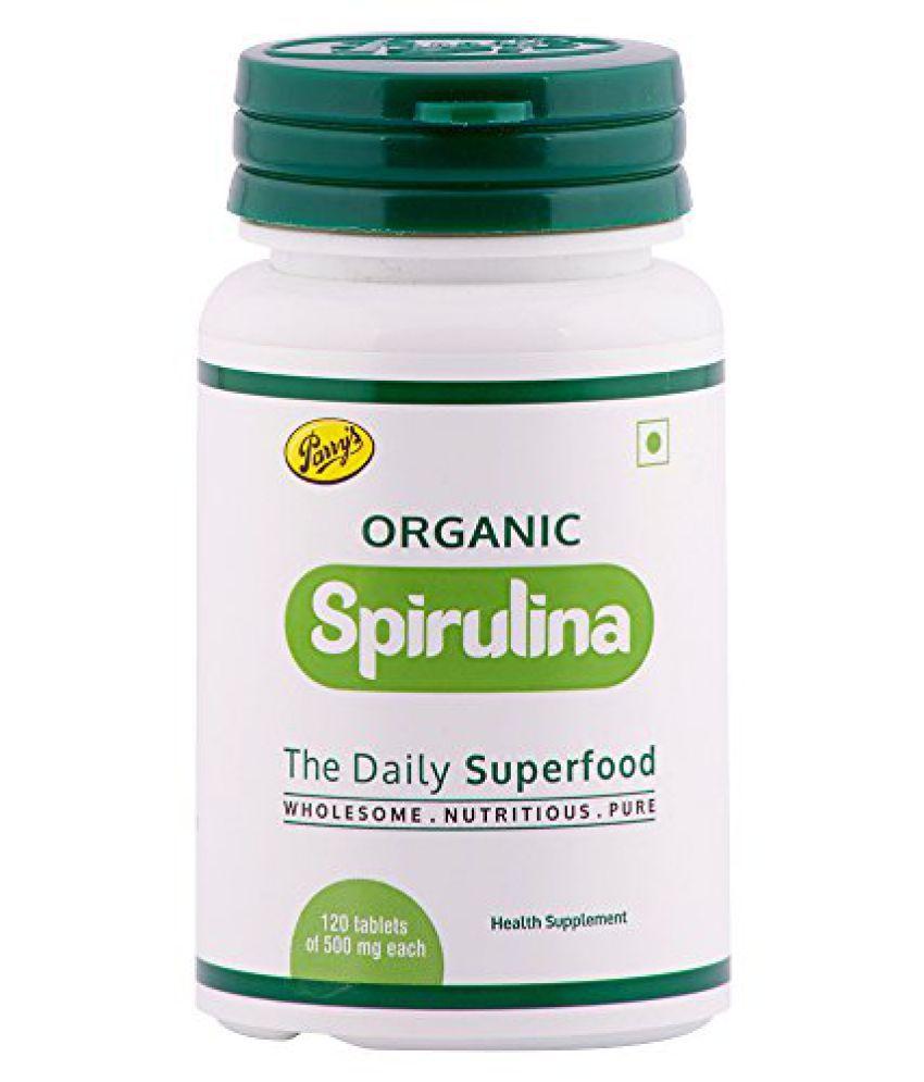 Parry's Organic Spirulina Tablets 120 Tablets - Pack of 2