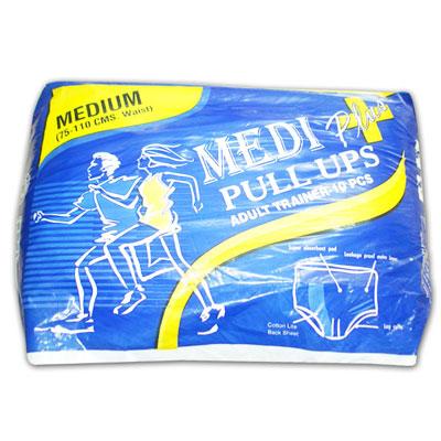 MEDI PLUS_Pull Ups Adult Trainer-10PCS_MEDIUM 75.110 CMS