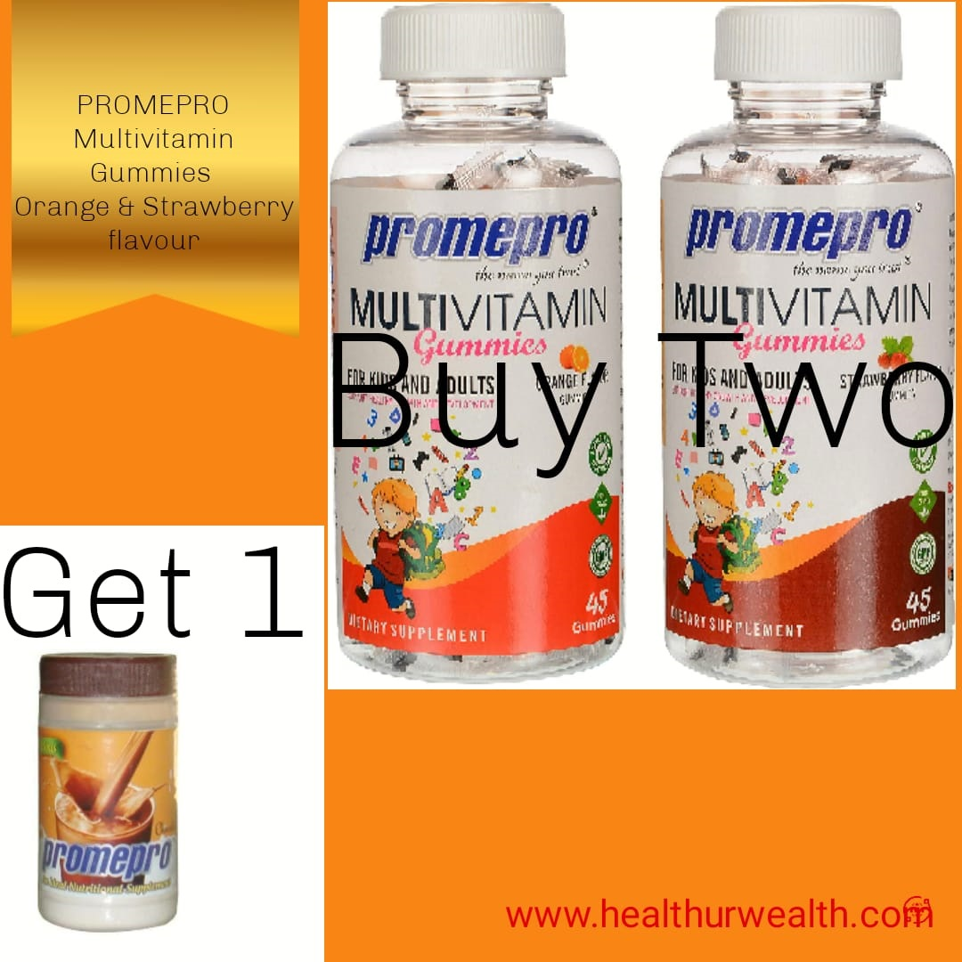 Promepro Multivitamin gummies orange and strawberry Buy 2 Get 1 Promepro Powder Free