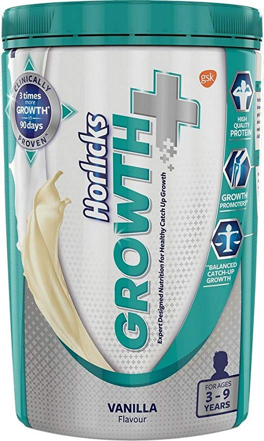 Horlicks Growth Plus – Health and Nutrition Drink 400 g Pet Jar Vanilla Flavor