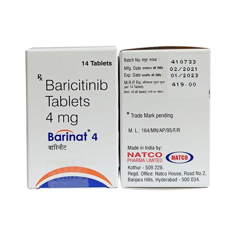 Baricitinib Barinat 4 mg 14 Tablets