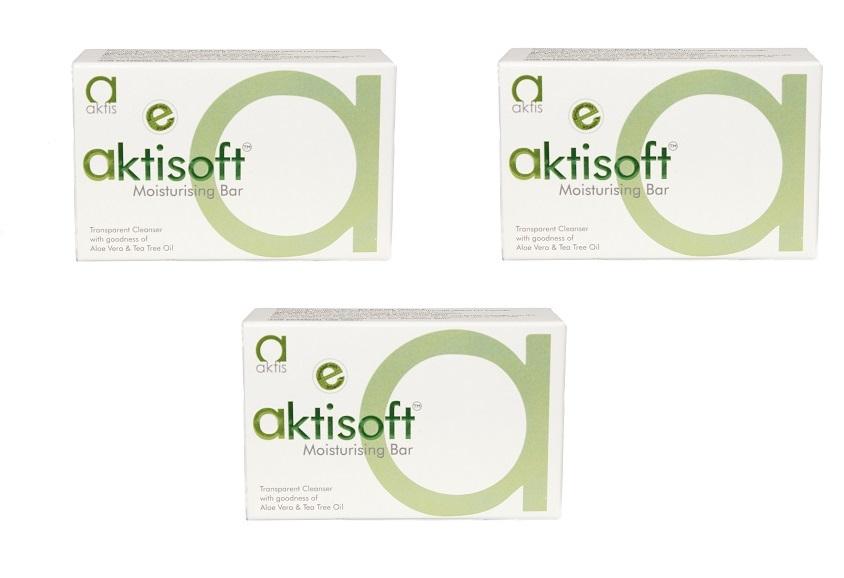aktisoft moisturising Bar pack of 3 100GM