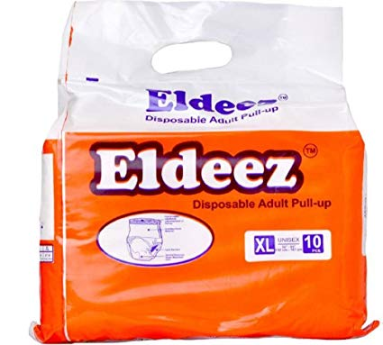 ELDEEZ Adult Diaper pull up Disposable Unisex 1 Pack of 10 PCS XL 5266 132cm167cm
