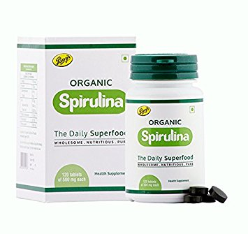 Parry Wellness Organic Spirulina Tablets  120 Tablets 500mg Each