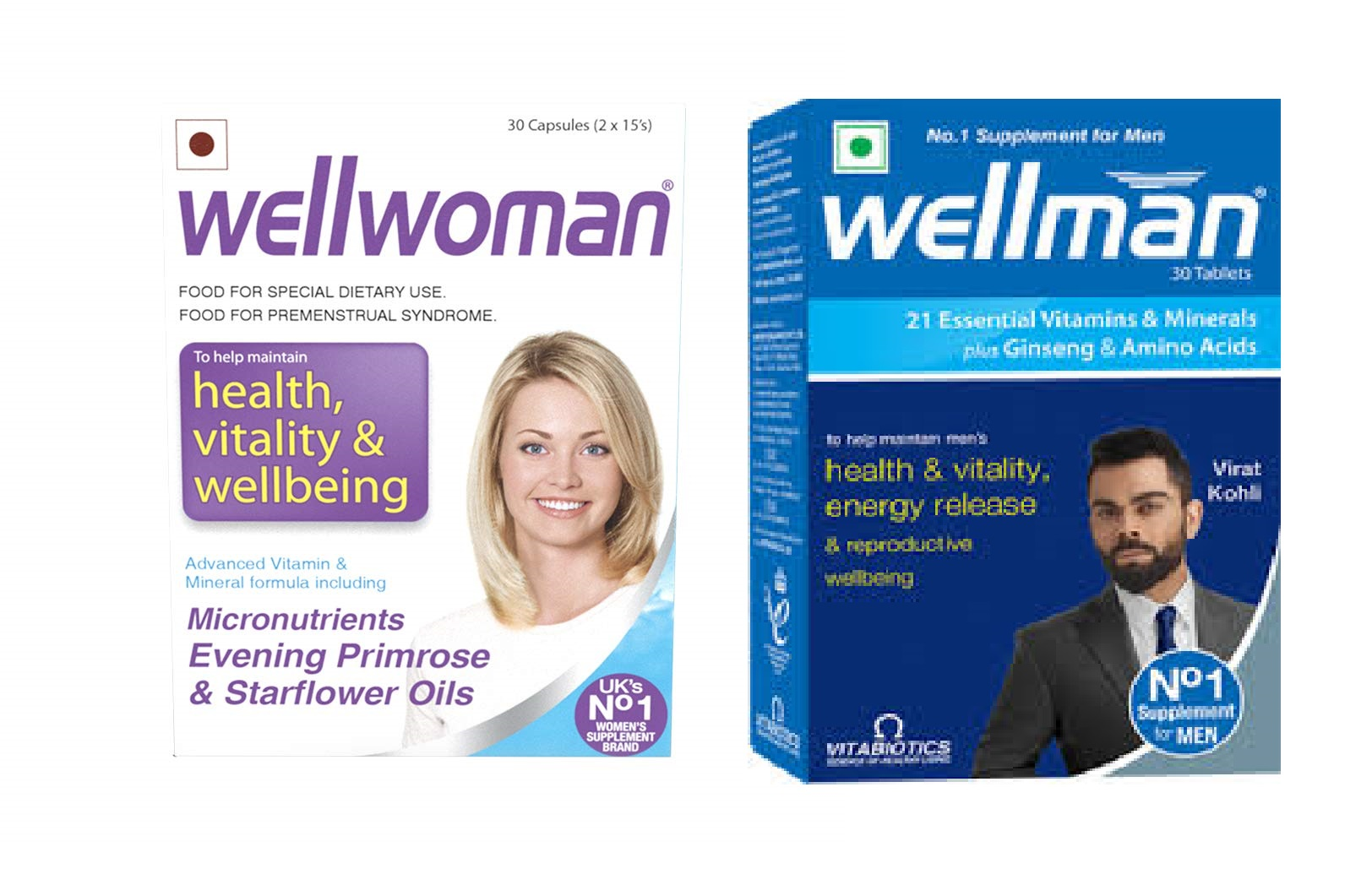 Wellman 30tablets and Wellwoman 30caps combo