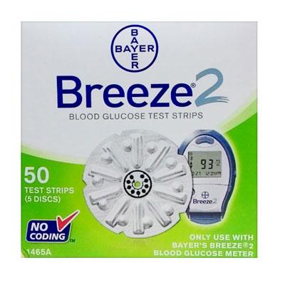 Breeze 2 Blood Glucose 50 Test Strips