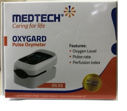 Medtech Pulse Oxymeter Model OG-03 with Features Oxygen Level, Pulse Rate, Perfusion Index