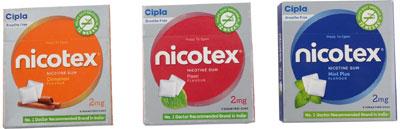 Nicotex Nicotine Pan  Mint Plus  Cinnamon Gums 2 gms x 1 each