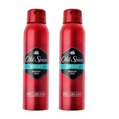 Old Spice Sport Deodorant Spray Pack of 2