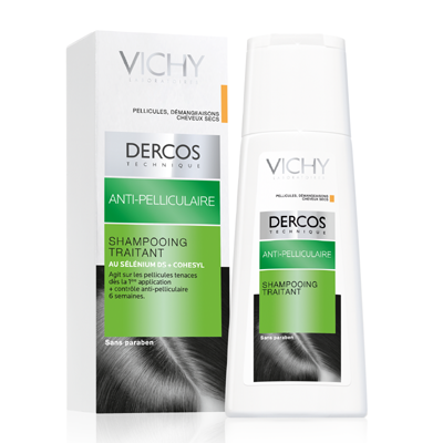 Vichy Dercos Anti Dandruff Treatment Shampoo For Dry and Itchy Scalps 200ml
