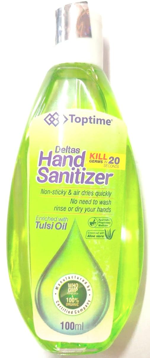 Toptime Deltas Hand Sanitizer 100ml Pack Of 3