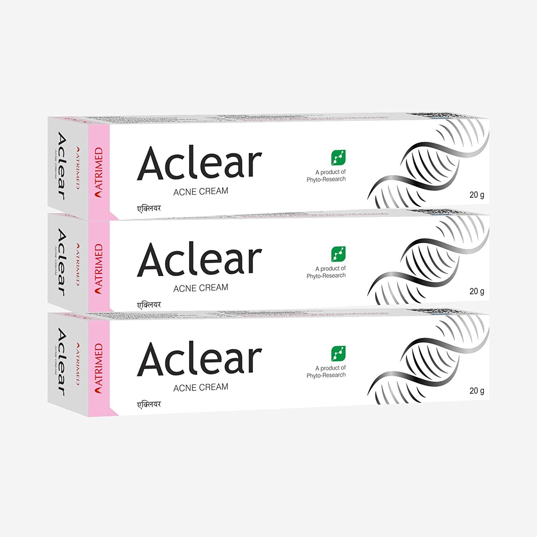 Aclear Anti acne cream 20gm, pack of 3