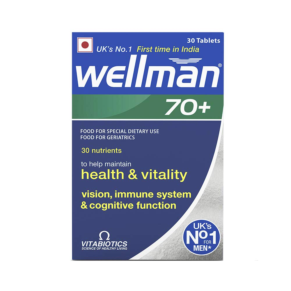 Wellman 70plus  Health Supplements (30 Nutrients) 30 Tablets