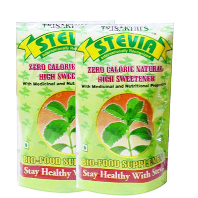 Stevia Zero Calorie Natural High Sweetener Pack Of 2 100gm