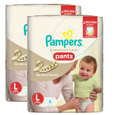 Pampar Premium Care Pants Large Pack Of 2