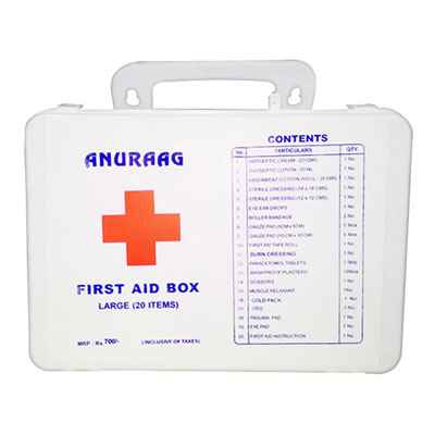Anuraag First Aid Box Large 20 Items