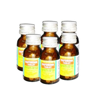 Halazone Tablets Safdrink 100 Tablets Pack of 6