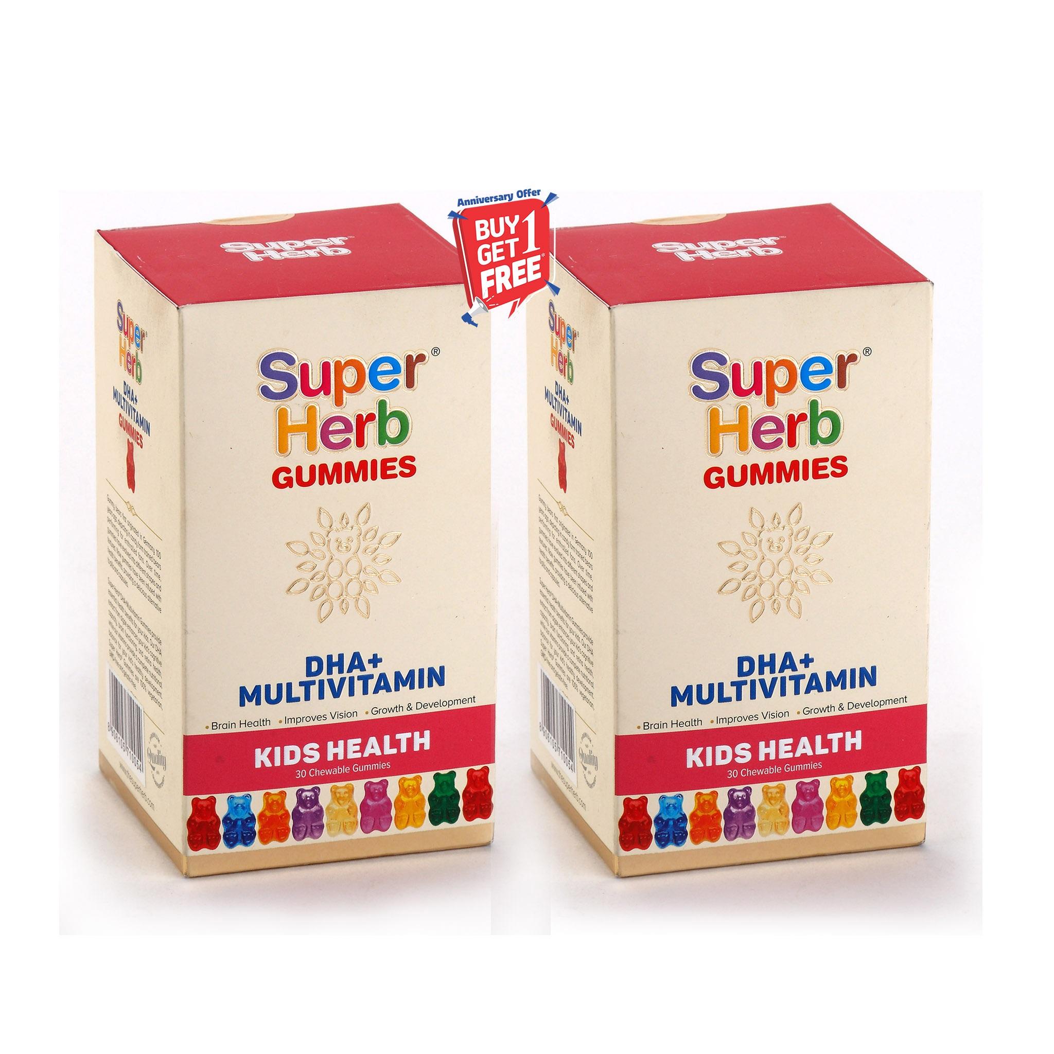 Super Herb Multi Vitamin Gummies - 30 Chewable Gummies   Buy 1 Get 1 Free