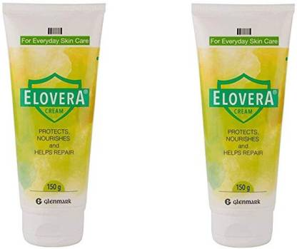 Elovera Vitamin E and Aloe Vera Cream (150 g)-Pack of 2